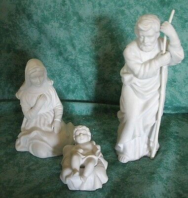 Vintage Avon Nativity Collectibles~Holy Family~1981~Porcelain~3 Pcs~Iob