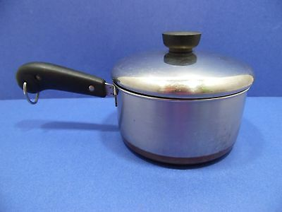Revere Ware Sauce Pan Lid 1.5 QT Pre 1968 Process Patent Stainless Steel Copper