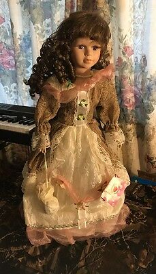 """The Rose Collection Doll """"Sophia"""" 21""""  w/Stand,No Box"""