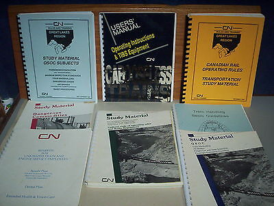8 CN Canadian National Railway CNR Trains Study Material & Manual 90's Books Lot