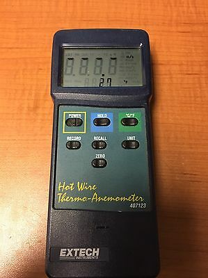 Extech Instruments 407123 Heavy Duty Hot Wire Thermo-Anemometer