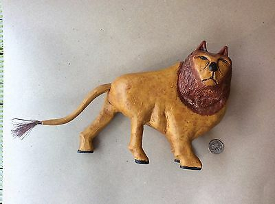 "June And Walter Gottshall Contemporary Folk Art Lion 12"" X 7 1/2"" Mint Rare"