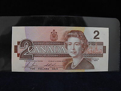 CANADA TWO DOLLAR BANK NOTE 1986 (c2015373)