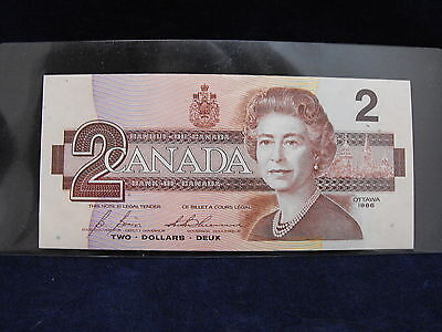 Canada Two Dollar Bank Note 1986 (Le2015374)