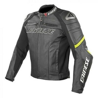 Motorcycle Dainese Racing Cow Hide Leather Motorbike Jacket