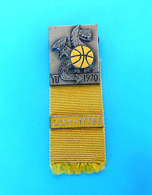 BASKETBALL WORLD CHAMPIONSHIP 1970. - official participant pin badge COMMITTEE