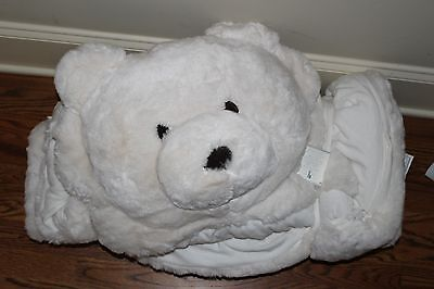 NWT Pottery Barn Kids Ivory Bear faux fur sleeping bag *NEVER MONOGRAMMEd