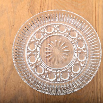 Vintage Clear Glass Octagon Pattern Plate