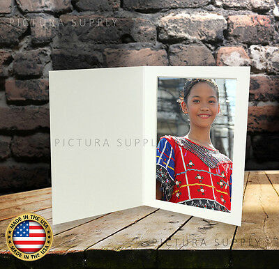 4x6 Basic White Cardboard Photo Folders - Pack of 50