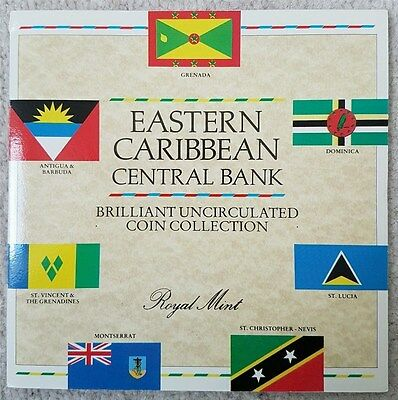1986 East Caribbean States - First Official Mint Set (6) - Royal Mint - Beauty!