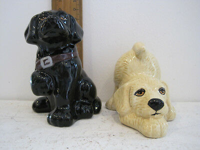 Puppy Dog Salt & Pepper Shakers ... Black and White of course