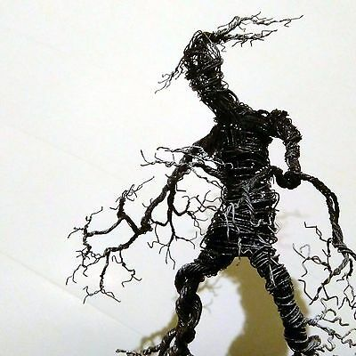 Handmade Unique Metal Wire Treebeard Ent Sculpture (29cm high)