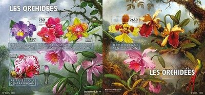 Z08 CA15606ab CENTRAL AFRICA 2015 Orchids MNH Set