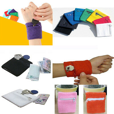 Athletic Travel Running Wrist Zipper Pocket Sports Wristband Armband Wallet