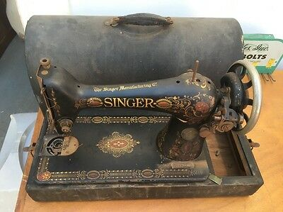 1910 SINGER MANUFACTURING CO G-SERIES SEWING MACHINE Missing Foot Medal Not Test