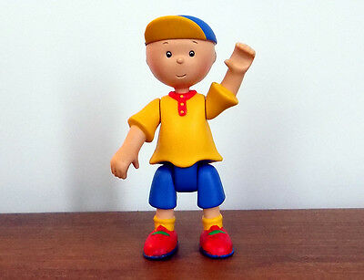 PBS CAILLOU Poseable Figure toy ~ RARE - Hard to find! Yellow shirt Caillou!