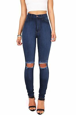 Light + Dark Wash Denim High Waist Womens Skinny Jeans Waisted Skinnys Vibrant