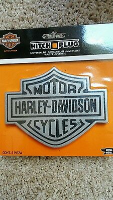 Harley Davidson New Hitch Cover Brushed Aluminum finish Metal universal fit SALE