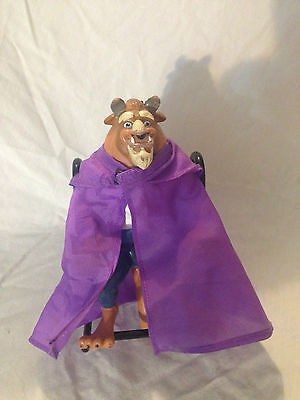 Vintage Disney 5'' Beauty and The Beast RARE!! rubber Beast Action Figure