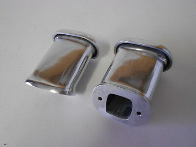 "Matching 4.5"" Tall Valve Cover Breathers, Polished Aluminum"
