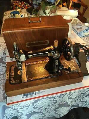 Vintage Western Electric Sewing Machine W Wood Case & Pedal Not A Singer