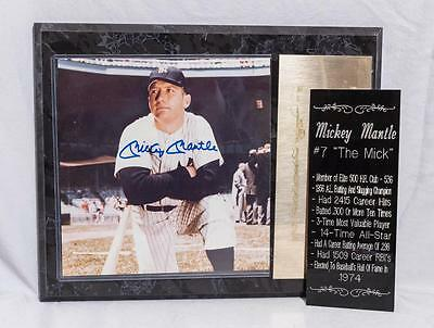 Mickey Mantle Autographed Photograph Plaque tthc