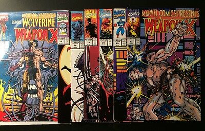 Marvel Comics Presents before Wolverine 72,76,78-82 / 1st Weapon X / Marvel Lot
