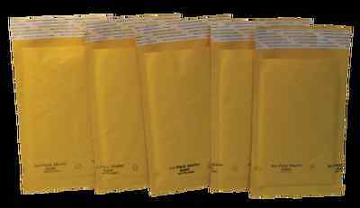 "KRAFT SELF-SEALING PADDED BUBBLE AIR MAILERS,SIZE# 000(4""x 8"") CASE OF 500"