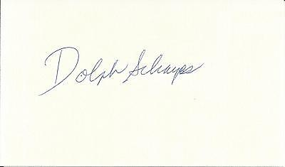 DOLPH SCHAYES NBA HOF SIGNED CARD dec. 2015