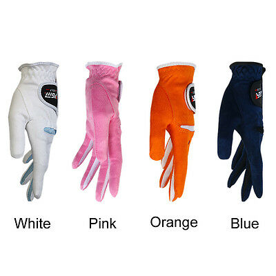 Golf Womens Gloves Pair Ladies Sport Microfiber Breathable Abrasion Gloves