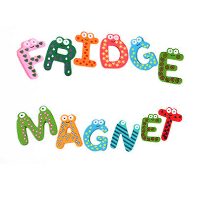 Cute 26Pcs Teaching Alphabets Fridge Magnet Magnetic Wall Letters Stickers Gift