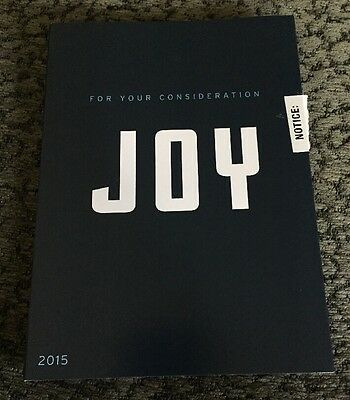 JOY David O. Russell FYC Oscar Promo Script 2015 For Your Consideration