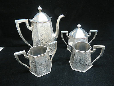 Forbes Silver Co Silver Plate Coffee / Tea Set #237