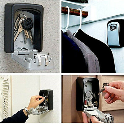 Key Lock Box with 4-Digit Combination  for Indoors or Outdoors -5 Keys US SHIP