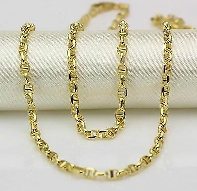 Pure Solid 18k Yellow Gold Necklace/ Heavy Link Chain Necklace /3.7-4g