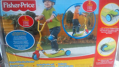 childs fisher price grow with me scooter