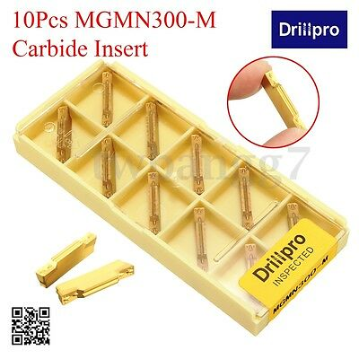 10Pcs 3mm MGMN300-M Carbide Insert Width For MGEHR/MGIVR Grooving Cut-Off Holder