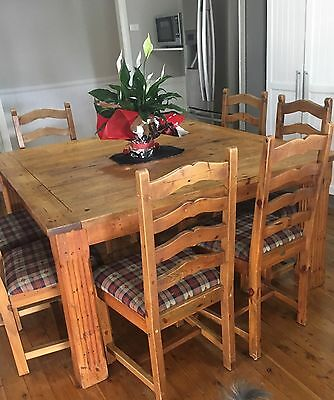 Solid timber Everyday Living Dining Table, County Style,  8 chairs