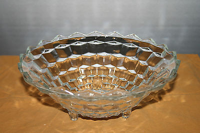 Colony Indiana Glass Clear Whitehall 3 Footed 10 inch Round Bowl