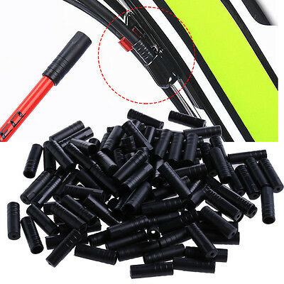100Pcs 4mm Bike Bicycle Cycling Brake Cable Crimps Housing Plastic End Tips Caps