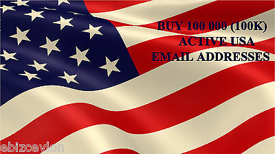Buy 100 000(100K) Active Usa Email Addresses For Email Marketing.