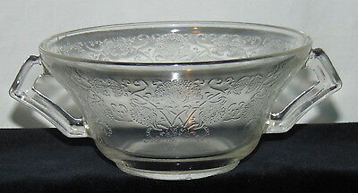 "Hazel Atlas FLORENTINE #2  CRYSTAL *4 3/4"" CREAM SOUP BOWL*"