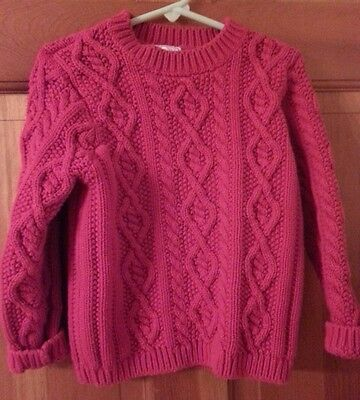 Talbots red cotton cable knit sweater, children's size 6
