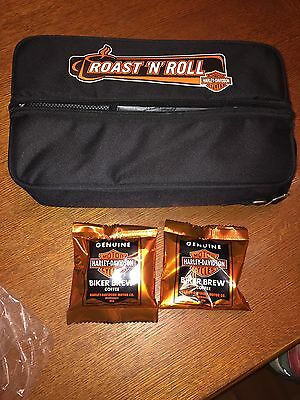 NEW Still Wrapped Harley-Davidson ROAST 'N' ROLL Thermos Coffee Kit Travel Bag