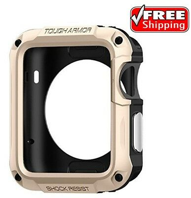Accessories Case For Apple Watch Series 2 42mm Screen Protector Champagne Gold