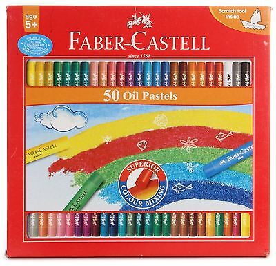 Faber-castell Oil Pastels Set of 50 Free Shipping Woralds.......