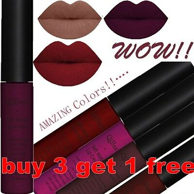 QIBEST Waterproof Matte Liquid Lipstick Long Lasting Lip Gloss Lipstick Beauty