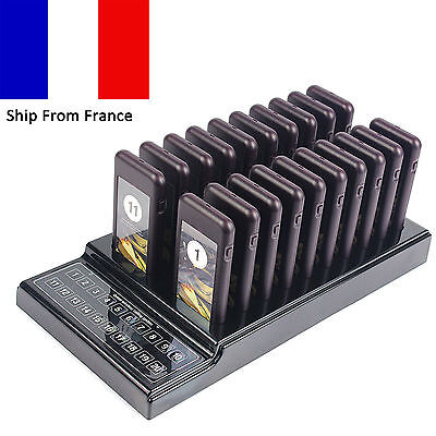20 Restaurant Coaster Pagers Guest Call Wireless Paging Queuing System France