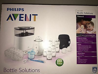 Philips Avent Natural Bottle Solutions Set With 4 In 1 Steriliser (Bpa Free)