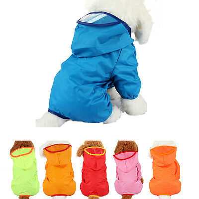 Fashion Dog Clothes Pet Hoodie Rain Coat for Small Dogs Pet Jacket & Pocket LD
